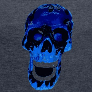 Blue Death - Women's T-shirt with rolled up sleeves
