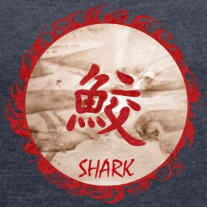 shark - Women's T-shirt with rolled up sleeves