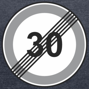 Road Sign 30 restriction - Women's T-shirt with rolled up sleeves