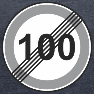 Road Sign 100 restriction - Women's T-shirt with rolled up sleeves