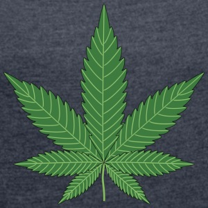 Cannabis leaf - Women's T-shirt with rolled up sleeves