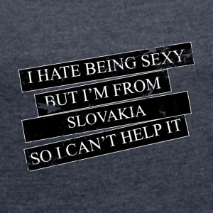 Motive for cities and countries - SLOVAKIA - Women's T-shirt with rolled up sleeves