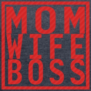 Mom Wife Boss - Women's T-shirt with rolled up sleeves