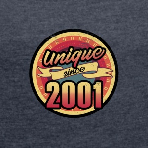 Gift for the 16th birthday - vintage 2001 - Women's T-shirt with rolled up sleeves