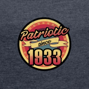 Gift for the 84th birthday - vintage 1933 - Women's T-shirt with rolled up sleeves