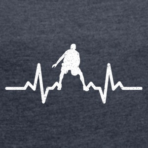 My heart beats for Basketball - Women's T-shirt with rolled up sleeves
