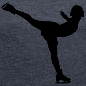ice dancer - Women's T-shirt with rolled up sleeves
