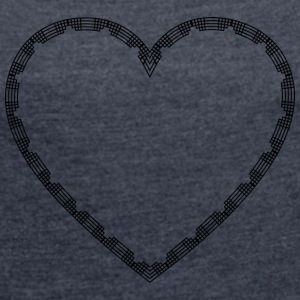 Abstract Heart Isle - Women's T-shirt with rolled up sleeves