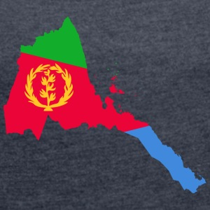 eritrea collection - Frauen T-Shirt mit gerollten Ärmeln