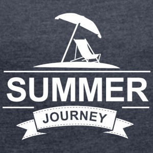Summer Journey - Women's T-shirt with rolled up sleeves