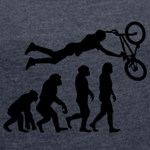 ++ ++ EVOLUTION BIKER - Women's T-shirt with rolled up sleeves