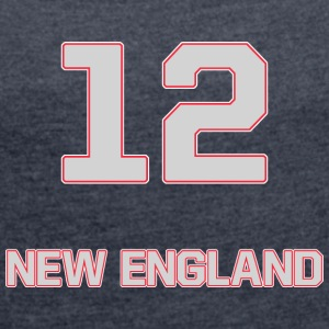 New_England - Women's T-shirt with rolled up sleeves