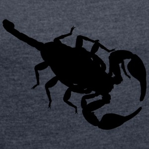 Scorpion black - Women's T-shirt with rolled up sleeves