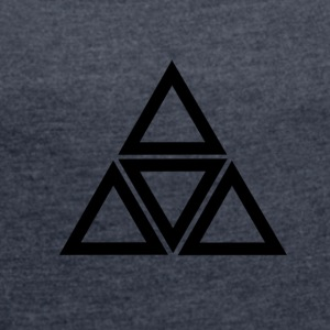 triangle - Women's T-shirt with rolled up sleeves