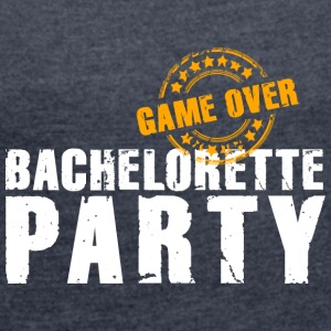 Bachelorette Party gameover JGA Team Bride flickor - T-shirt med upprullade ärmar dam