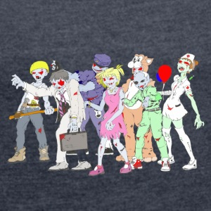 Collection Zombie: Zombie Party - T-shirt Femme à manches retroussées