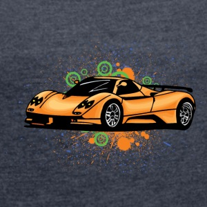 Cool supercars - Women's T-shirt with rolled up sleeves