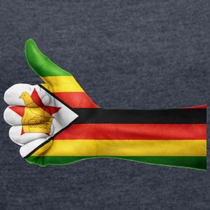 zimbabwe collection - Women's T-shirt with rolled up sleeves
