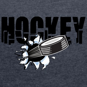HOCKEY PUCK - Women's T-shirt with rolled up sleeves
