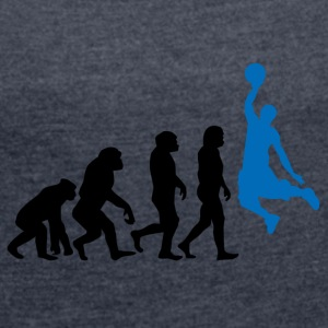 ++Basketball Slam Dunk Evolution++ - Frauen T-Shirt mit gerollten Ärmeln