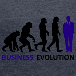 ++Business Evolution++ - Frauen T-Shirt mit gerollten Ärmeln