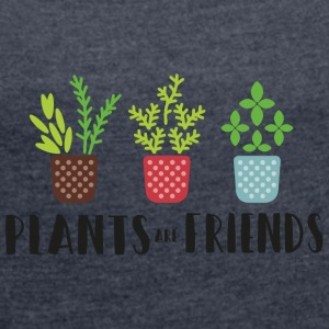 PLANTS in color - Women's T-shirt with rolled up sleeves