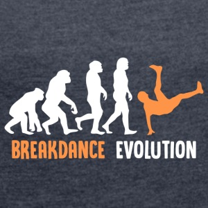 ++ ++ Breakdance Evolution - Dame T-shirt med rulleærmer