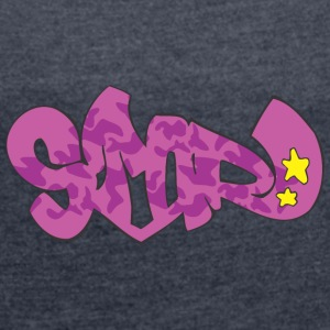 smor graffiti - Women's T-shirt with rolled up sleeves