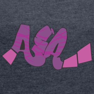 aia graffiti - Women's T-shirt with rolled up sleeves