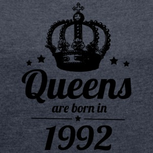 Queens 1992 - Women's T-shirt with rolled up sleeves