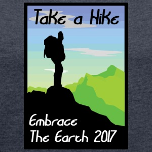Earth Day 2017 - T-shirt med upprullade ärmar dam