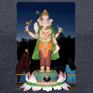 Ganesha - Women's T-shirt with rolled up sleeves