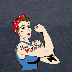 PROUD MOM COLLECTION - Dame T-shirt med rulleærmer