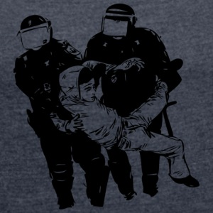 POLICE ABUSE - Women's T-shirt with rolled up sleeves