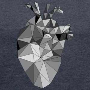Graphic Heart - Women's T-shirt with rolled up sleeves