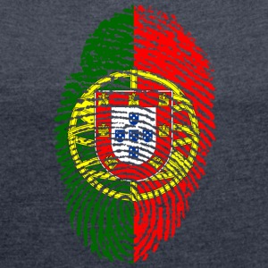 PORTUGAL 4 EVER COLLECTION - Women's T-shirt with rolled up sleeves