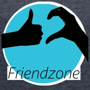 friend zone - Women's T-shirt with rolled up sleeves