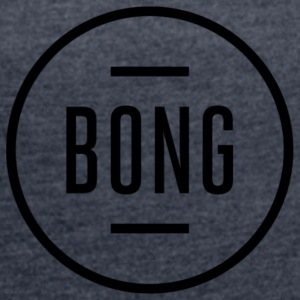 Bong black - Women's T-shirt with rolled up sleeves
