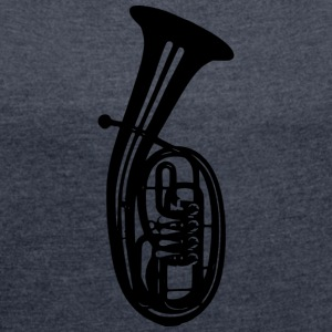 tenor-horn - Women's T-shirt with rolled up sleeves