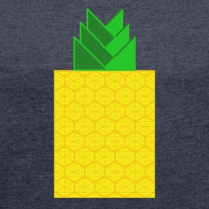 DIGITAL FRUITS - Digital PINEAPPLE - Digi Pineapple - Women's T-shirt with rolled up sleeves