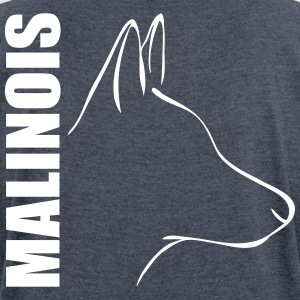 MALINOIS PROFILE - Women's T-shirt with rolled up sleeves
