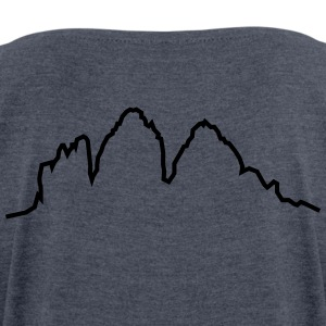 Dolomites 3 peaks - Women's T-shirt with rolled up sleeves