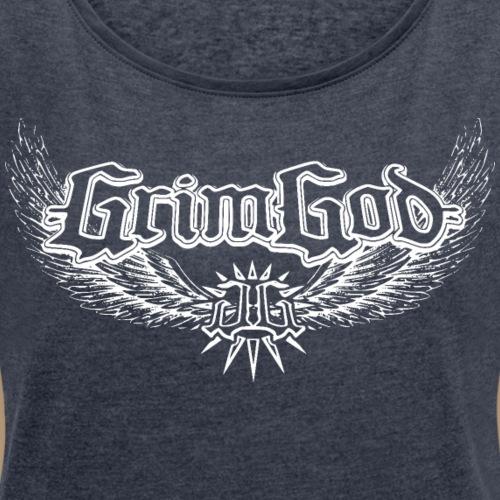 Front Wings | Back LionChains II - Frauen T-Shirt mit gerollten Ärmeln