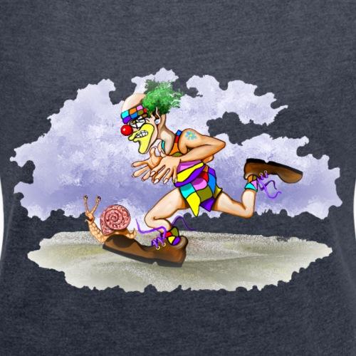 Rennen - Frauen T-Shirt mit gerollten Ärmeln