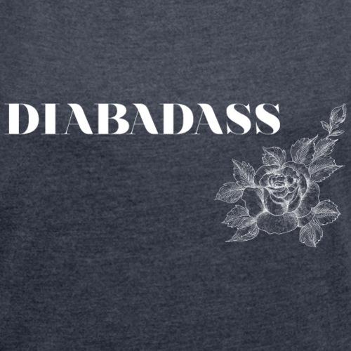 DIABADASS floral - T-shirt à manches retroussées Femme