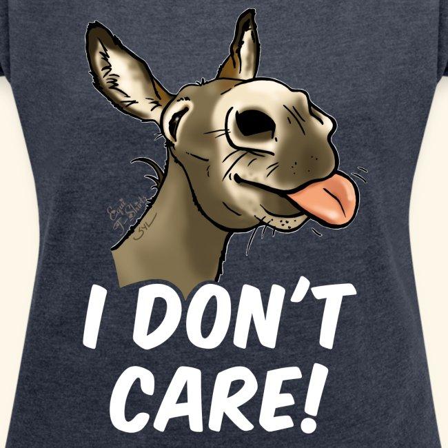 "Ane ""I don't care!"" (texte blanc)"