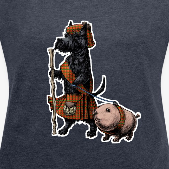Scottie and Haggis dark t