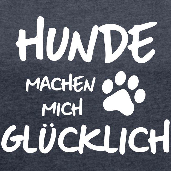 Vorschau: gluck - Frauen T-Shirt mit gerollten Ärmeln