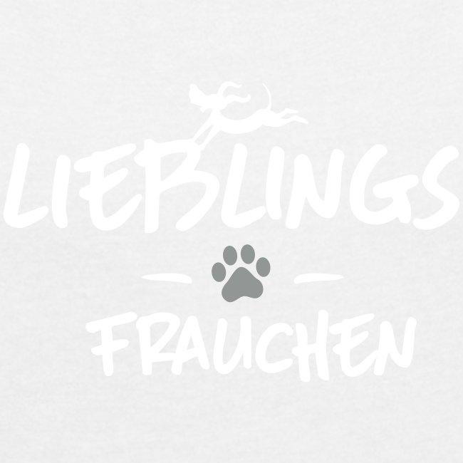 Vorschau: Lieblings Frauchen - Frauen T-Shirt mit gerollten Ärmeln