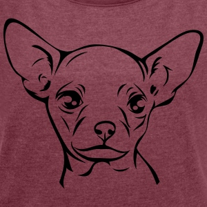 CHIHUAHUA PORTRAIT - Women's T-shirt with rolled up sleeves